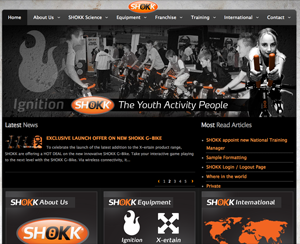 SHOKK Youth Fitness Website